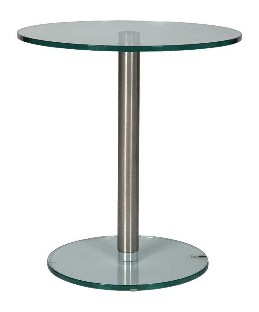 Ronde Bijzettafel Glas Metaal.Helderr 59039 Glazen Bijzettafel Rond Transparant