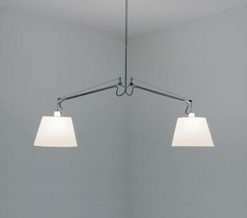 meubeltop artemide hanglamp tolomeo basculante grijs satijn 36 cm aluminium grijs van. Black Bedroom Furniture Sets. Home Design Ideas