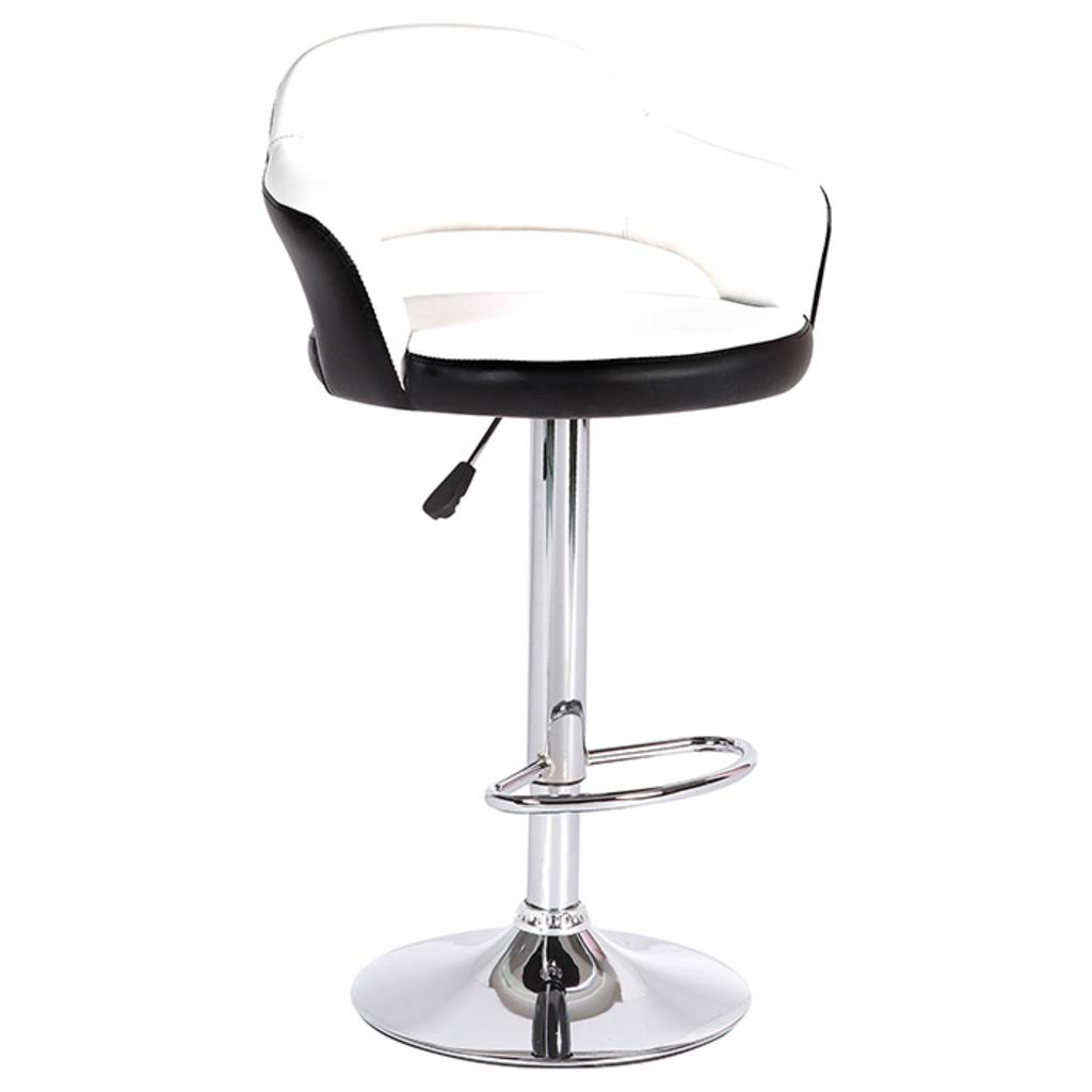 Meubeltop barstoel hayden wit zwart van aspect design misc for Aspect design
