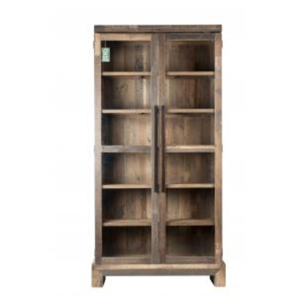 Meubeltop boekenkast camino gerecycled hout zuiver van zuiver kasten en inrichting kasten - Boekenkast hout en ijzer ...
