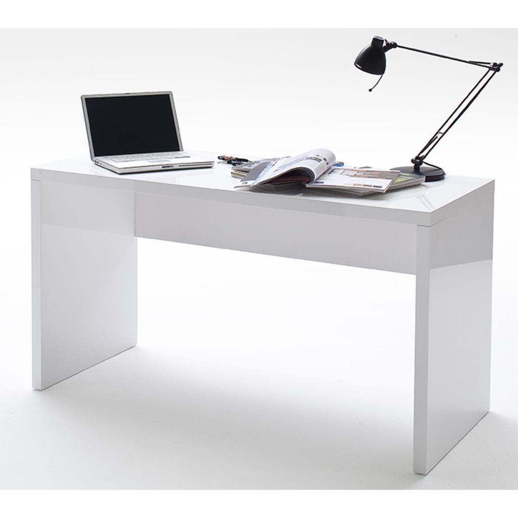 Meubeltop bureau ivy hoogglans wit van aspect design misc for Aspect design