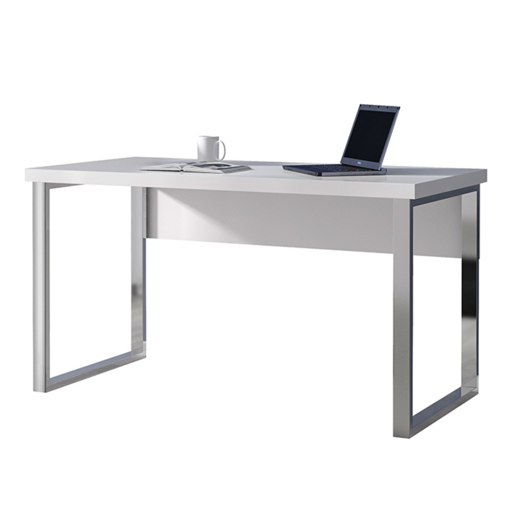 Meubeltop bureau mila hoogglans wit van aspect design misc for Aspect design