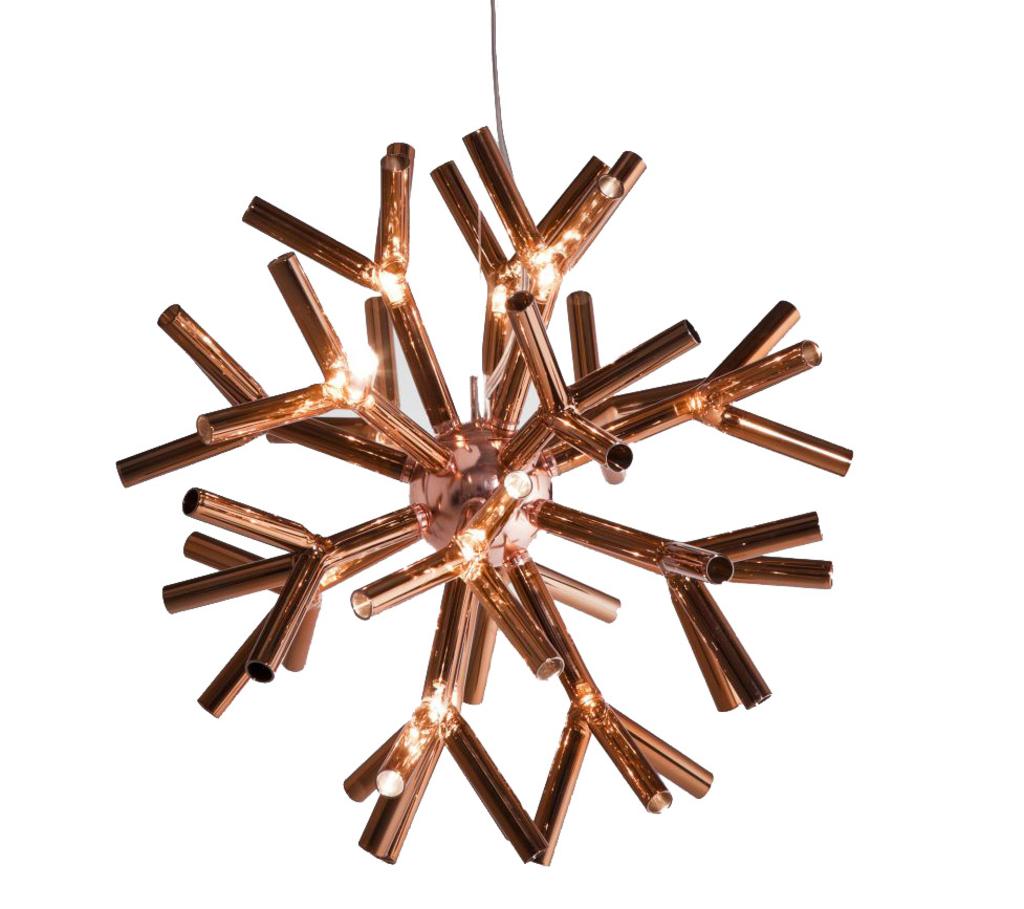Meubeltop corallo hanglamp koper kare design van kare for Koper design