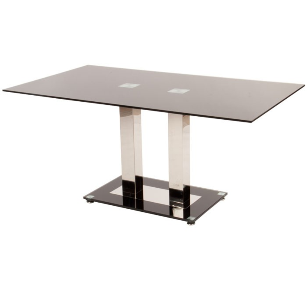Meubeltop davidi design eetkamertafel ice black van for Design eetkamertafel