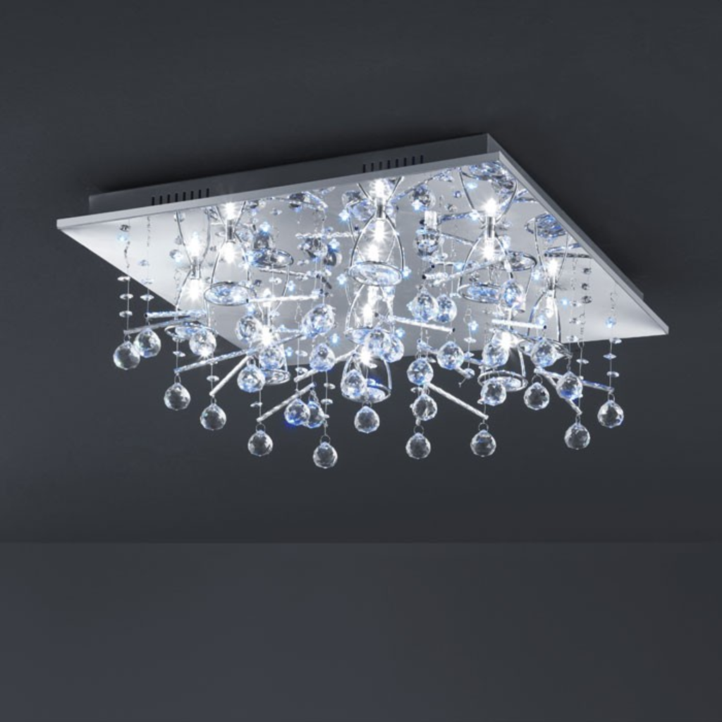 Meubeltop davidi design led plafondlamp new york 52 van for Design plafondlamp