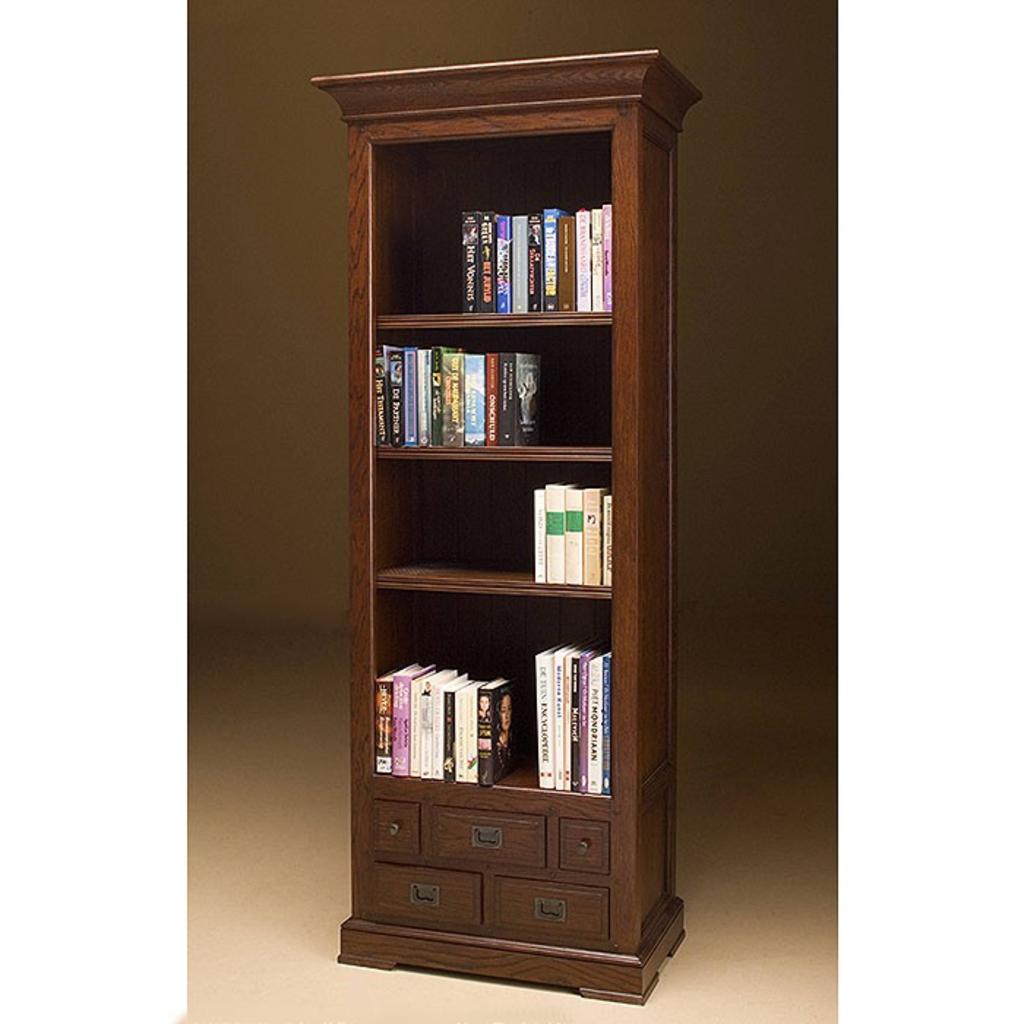 Meubeltop davidi design manila boekenkast eiken van for Boekenkast design