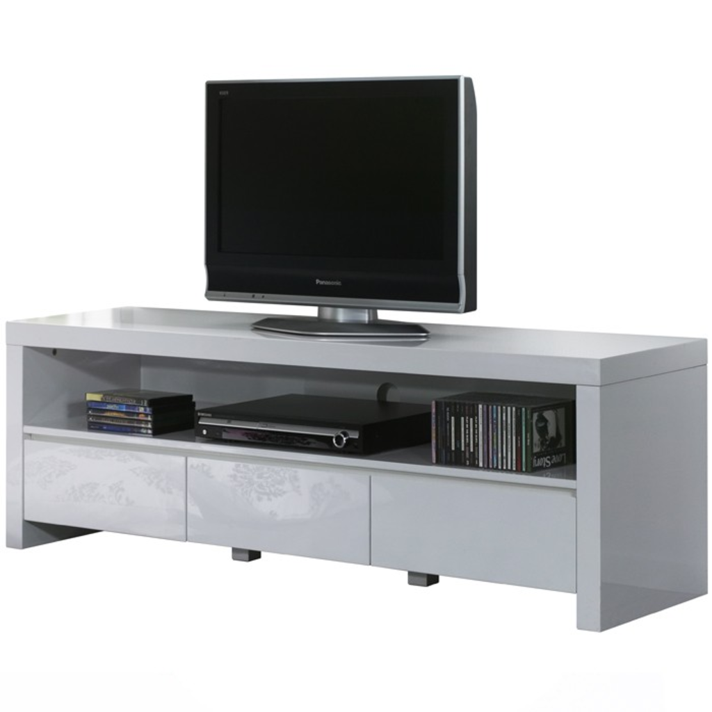Meubeltop davidi design tv meubel 3l hoogglans wit van for Tv meubel design