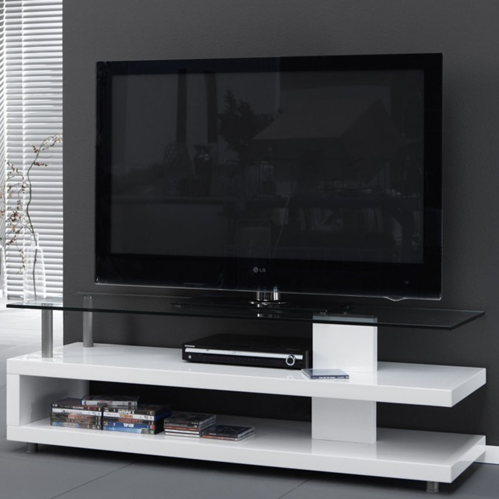 Meubeltop davidi design tv meubel glasplaat hoogglans for Tv meubel design