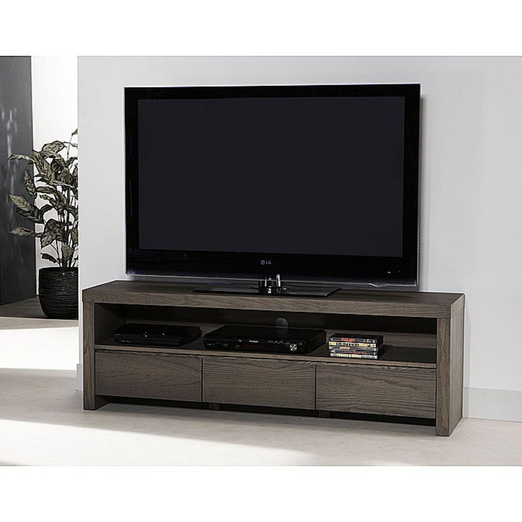 Meubeltop davidi design tv meubel olive eiken van davidi for Tv meubel design
