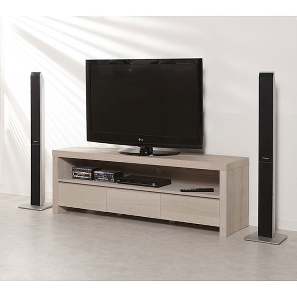 Meubeltop davidi design tv meubel whitewash eiken van for Tv meubel design