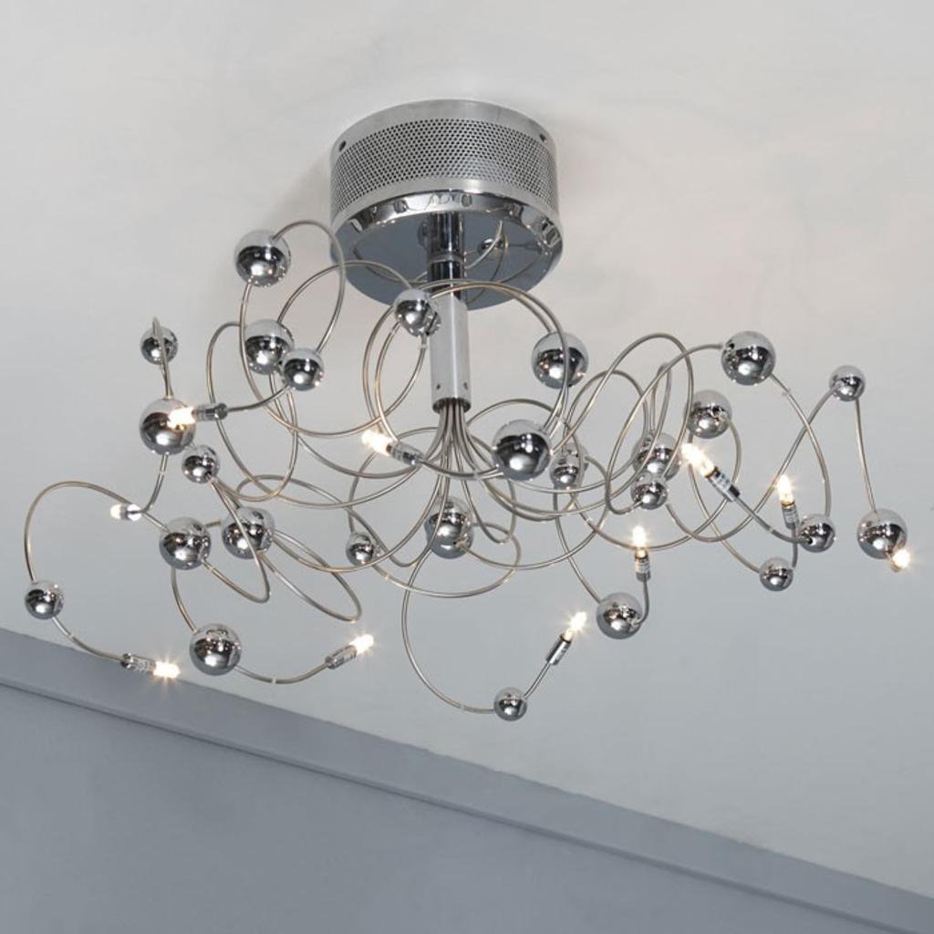 Meubeltop davidi plafondlamp chrome bol van davidi lampen for Lampen chrom
