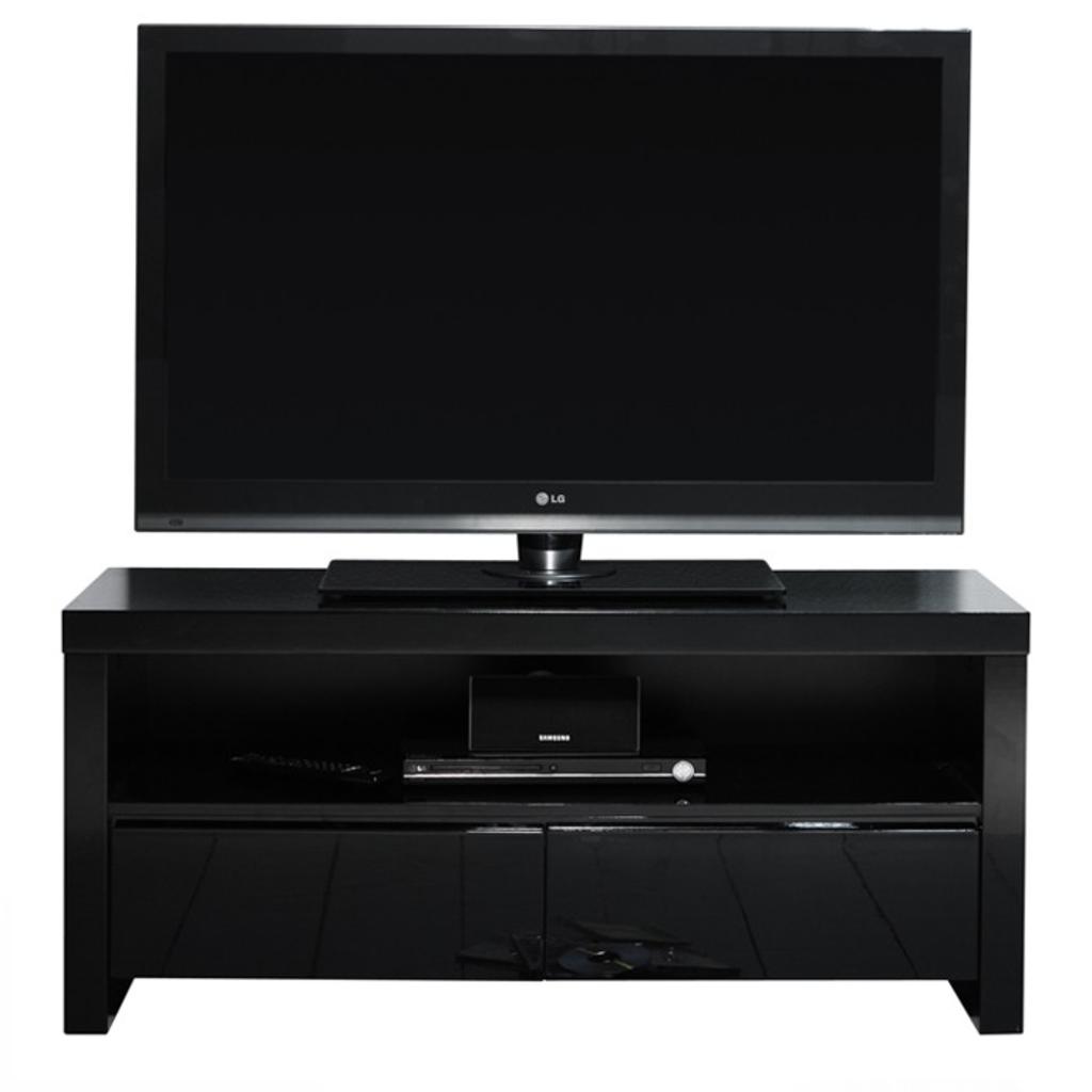 Meubeltop davidi tv meubel 2l hoogglans zwart van for Huiskamer meubels