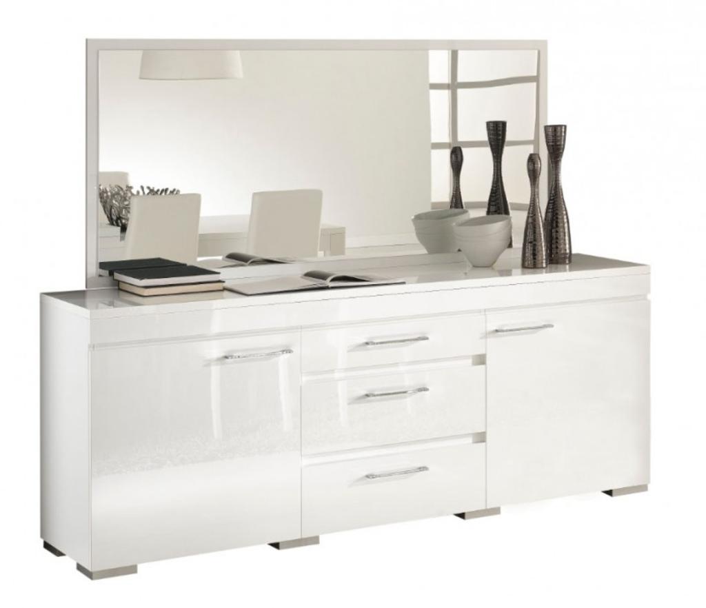 Meubeltop davidi design gilda dressoir met spiegel hg wit van davidi design hal root - Dressoir met spiegel ...