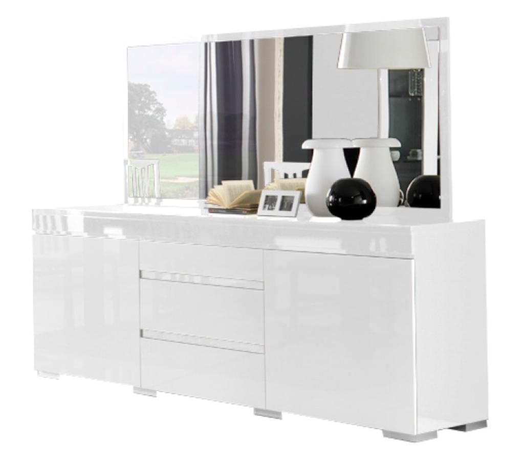 Meubeltop davidi design zenos dressoir met spiegel hg wit van davidi design hal root - Dressoir met spiegel ...