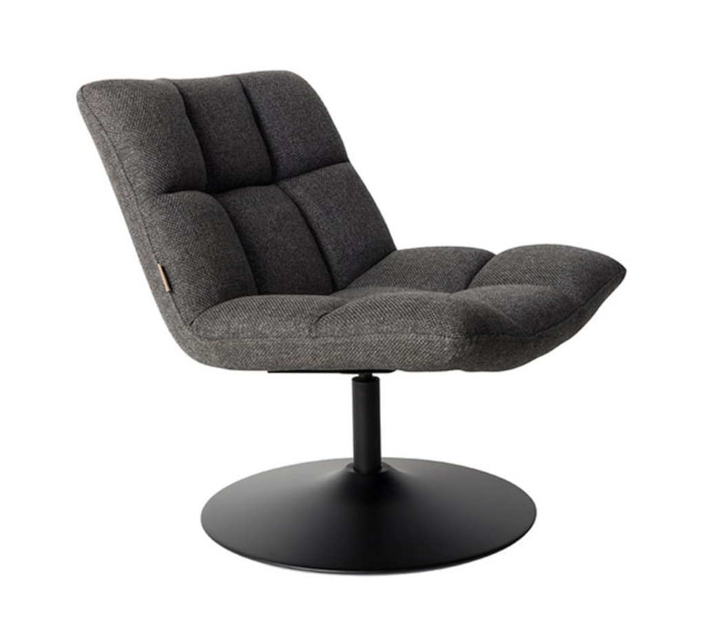 Meubeltop dutchbone fauteuil bar lounge chair donker grijs van dutchbone misc - Lounge design grijs ...