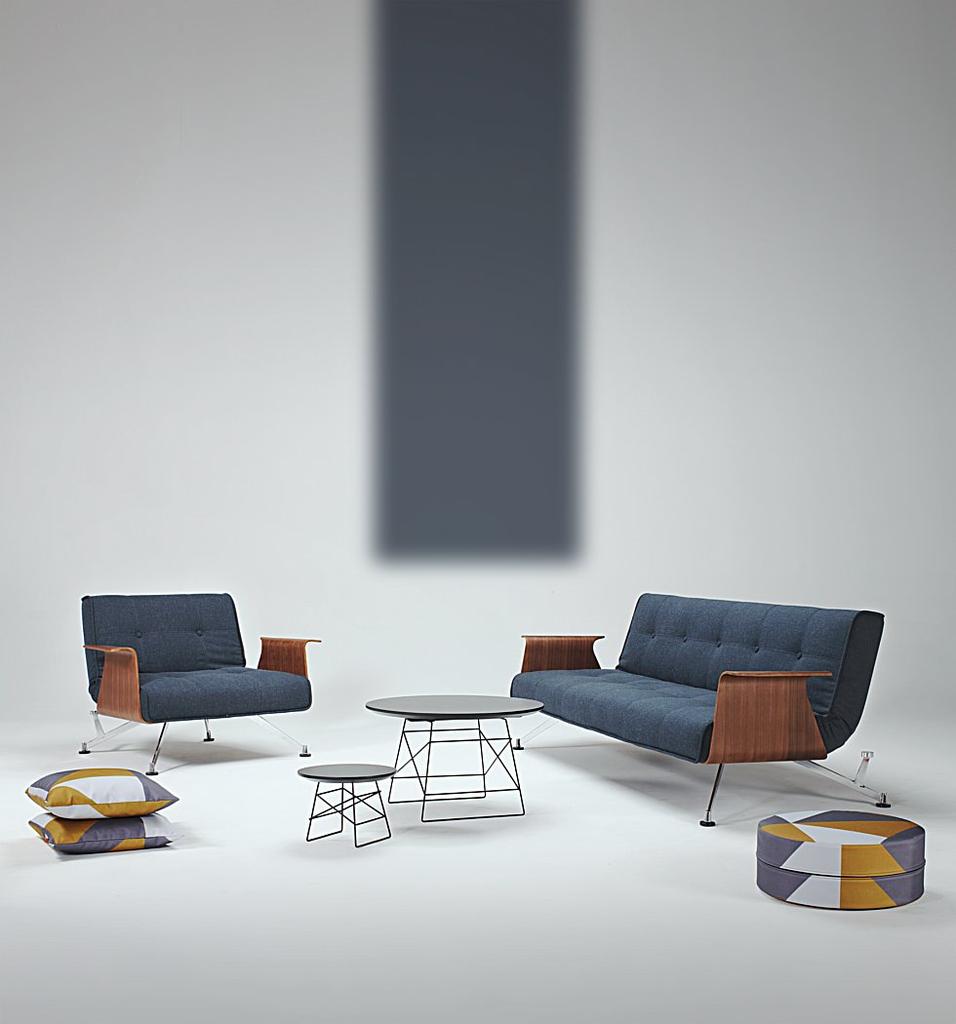 meubeltop fauteuil clubber deluxe donkerblauw van innovation misc. Black Bedroom Furniture Sets. Home Design Ideas