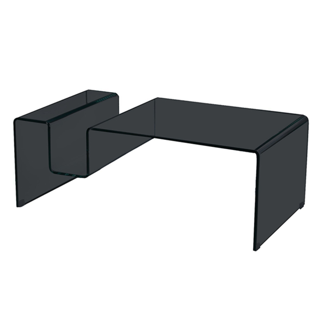 Meubeltop glazen salontafel marijke120x65cm zwart van for Aspect design