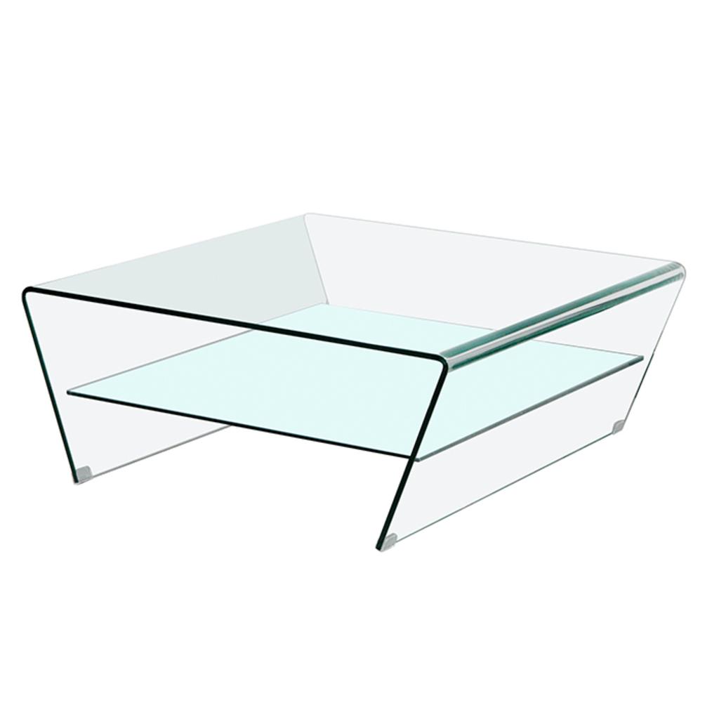 Meubeltop glazen salontafel nicole 100x100cm van aspect for Aspect design