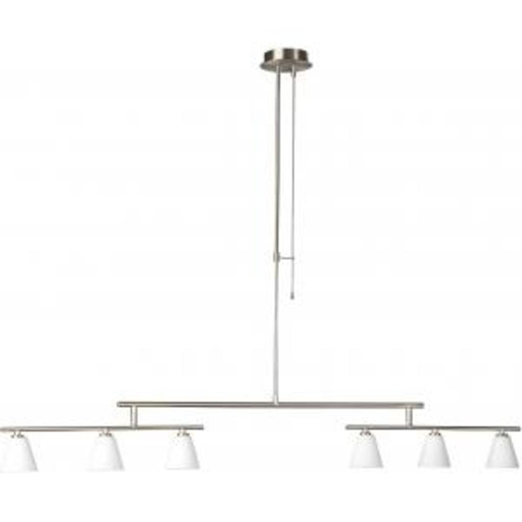 Meubeltop hanglamp amin nikkel 6 lampen massive by for Massive lampen