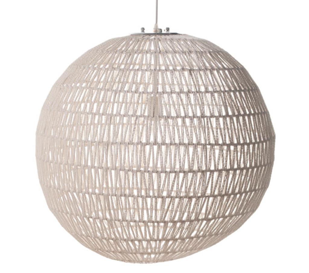 Meubeltop hanglamp cable wit diameter 60 cm wit van for Lampen 60 cm