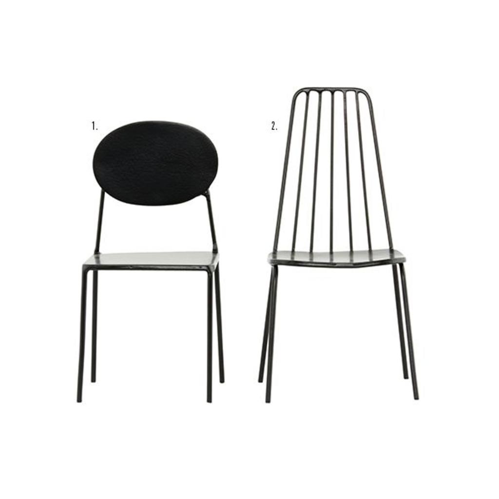Meubeltop house doctor miniatuur stoel zwart van house for House doctor stoel