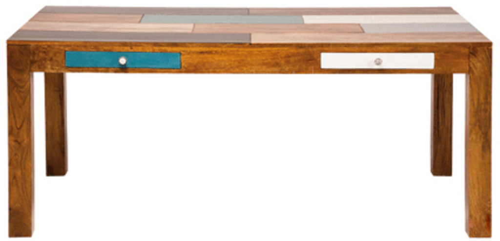 Houten tafel kleuren : Meubeltop houten tafel malibu van kare design tafels bijzettafels en dressoirs