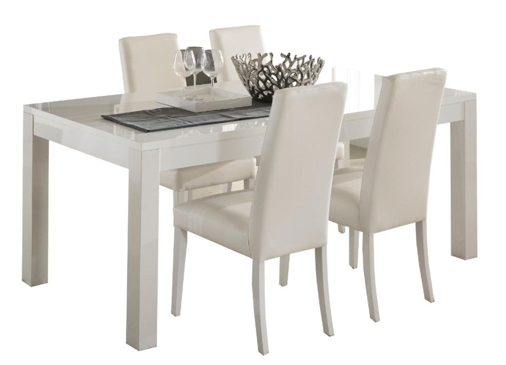 Witte Eettafel 160.Meubeltop Eettafel Icy White 160 Of 190 Cm Breed Hoogglans Wit