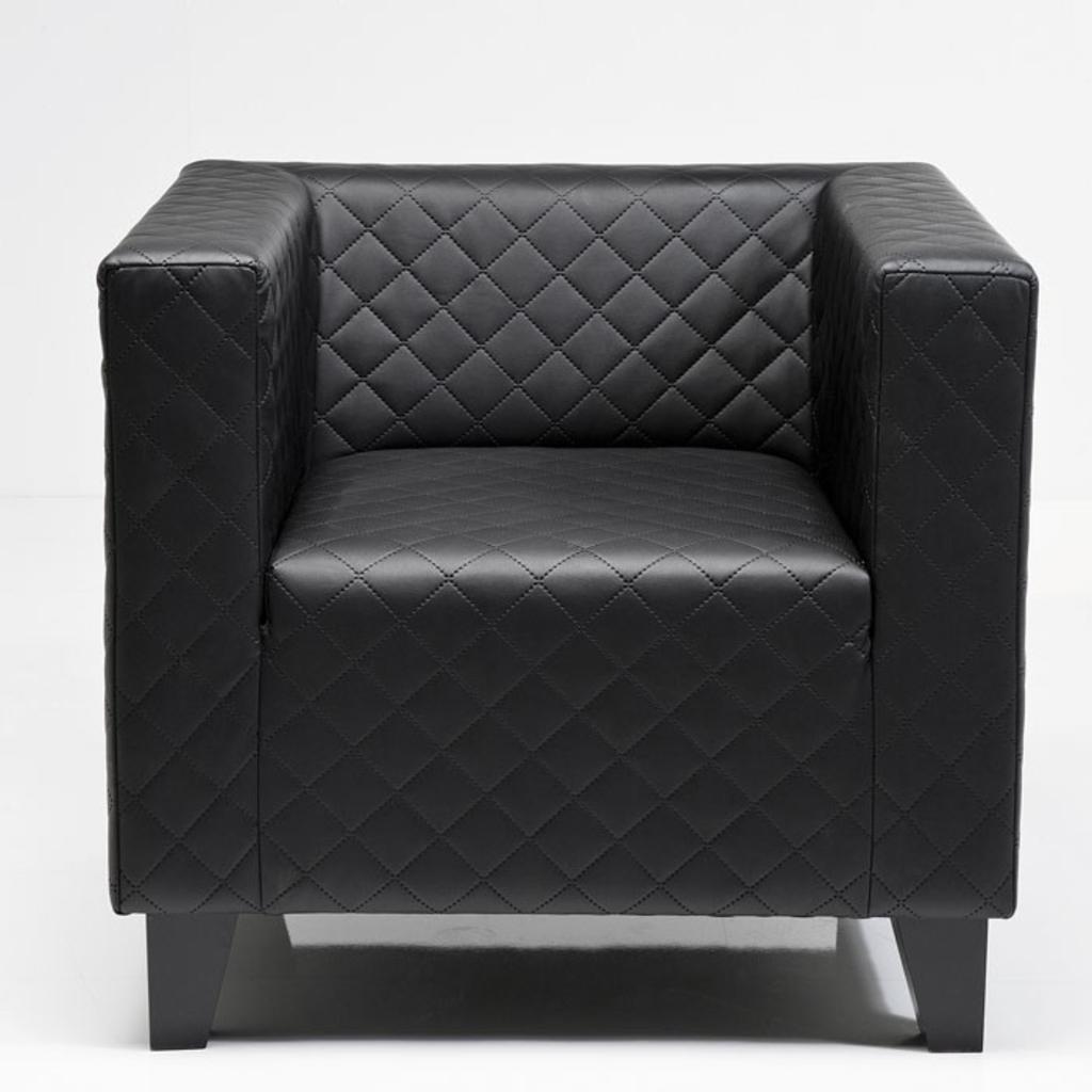 meubeltop kare design fauteuil cube zwart van kare design. Black Bedroom Furniture Sets. Home Design Ideas