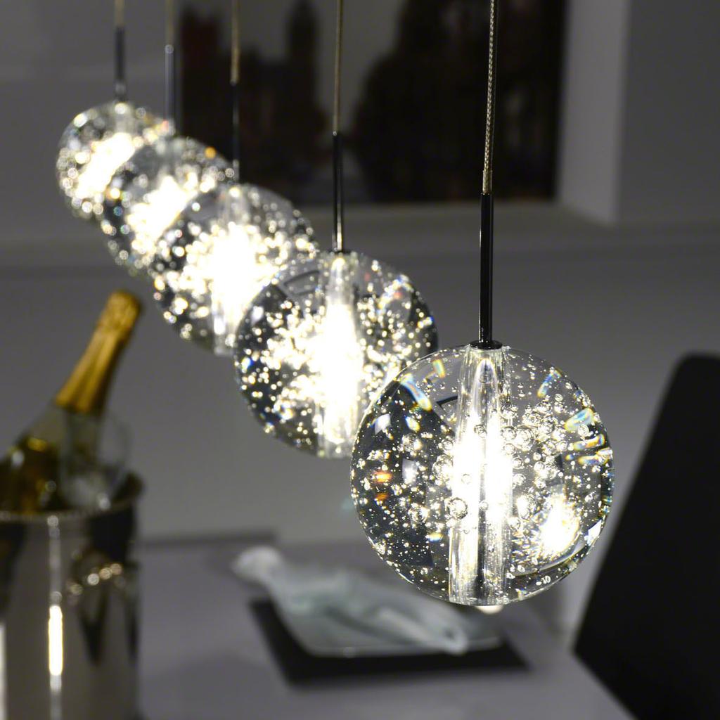 Beste MeubelTop: Hanglamp 'arie' Met 5 Glazen Bollen van Lifestylefurn KR-59