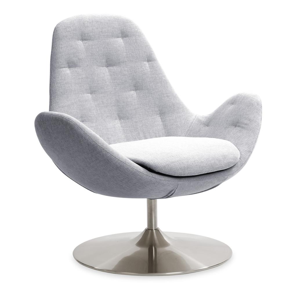 Meubeltop lounge stoel houston ii lichtgrijs laag draaipoot van fashion for home misc - Comfortabele lounge stoel ...