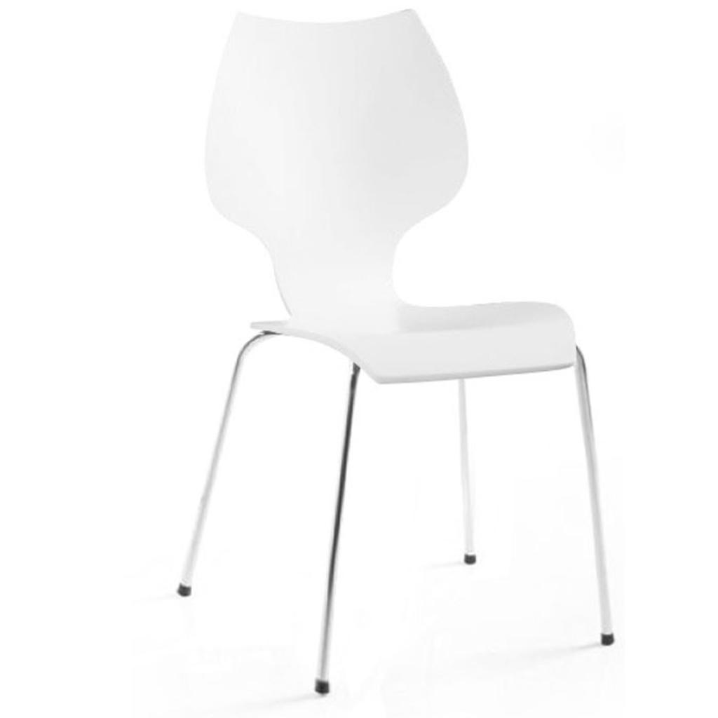 Meubeltop odetta design stoel mumbai wit van odetta for Design stoel wit