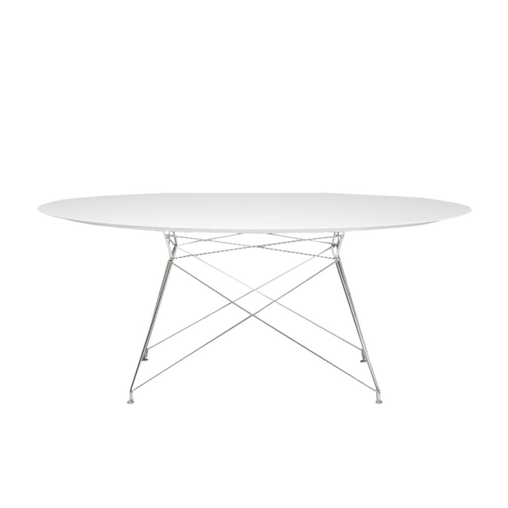 Ovale Eettafel Wit Voltage O van Kare Design Tafels, bijzettafels en ...