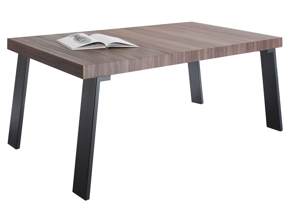 Meubeltop eettafel vectra 168 cm breed walnoot van for Mobilia 972