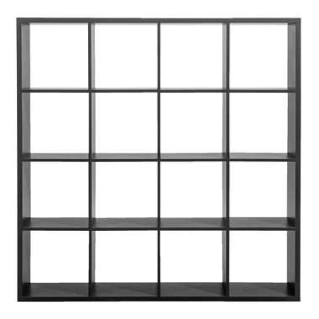Leen Bakker Roomdivider Lyon 16 Vakken Grijs 141x141x33 Cm