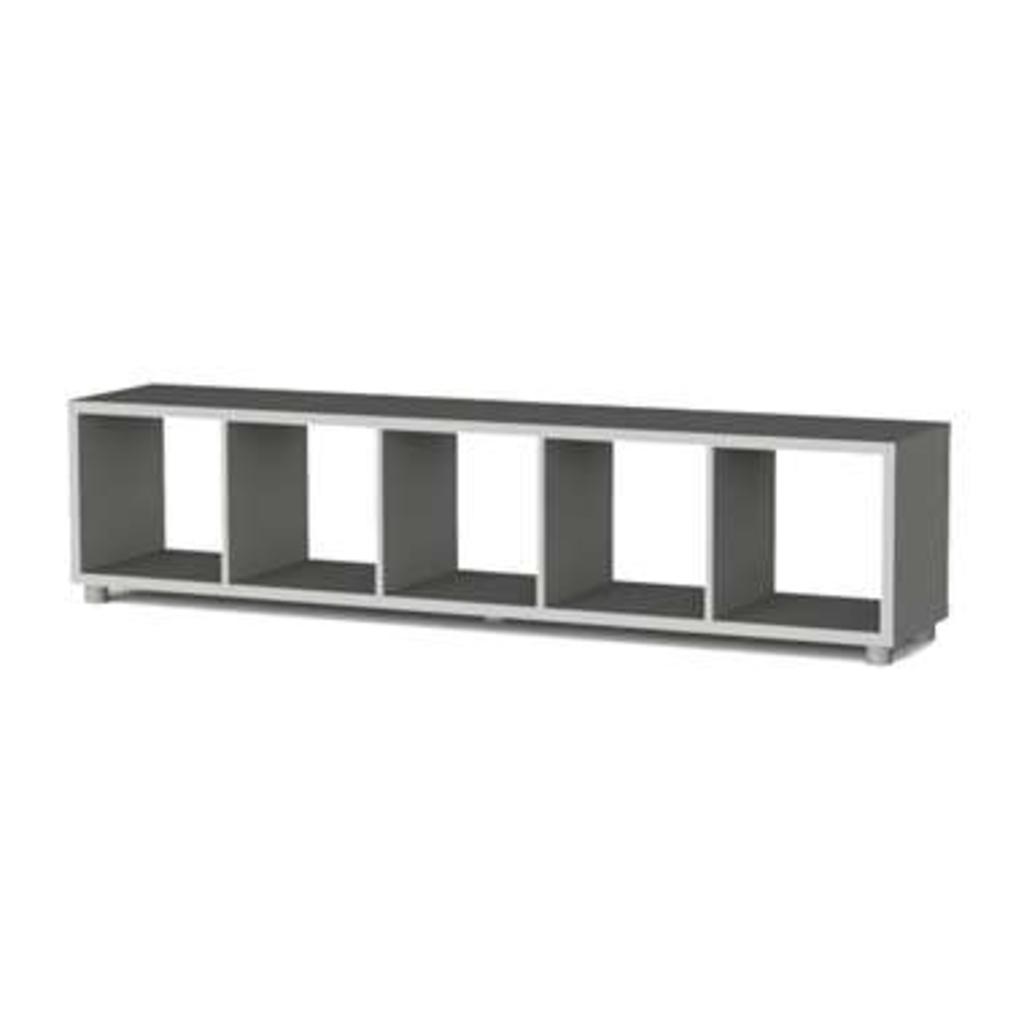 Leen Bakker Tenzo Roomdivider Box Grijs 5 Vakken 181x38x35 Cm