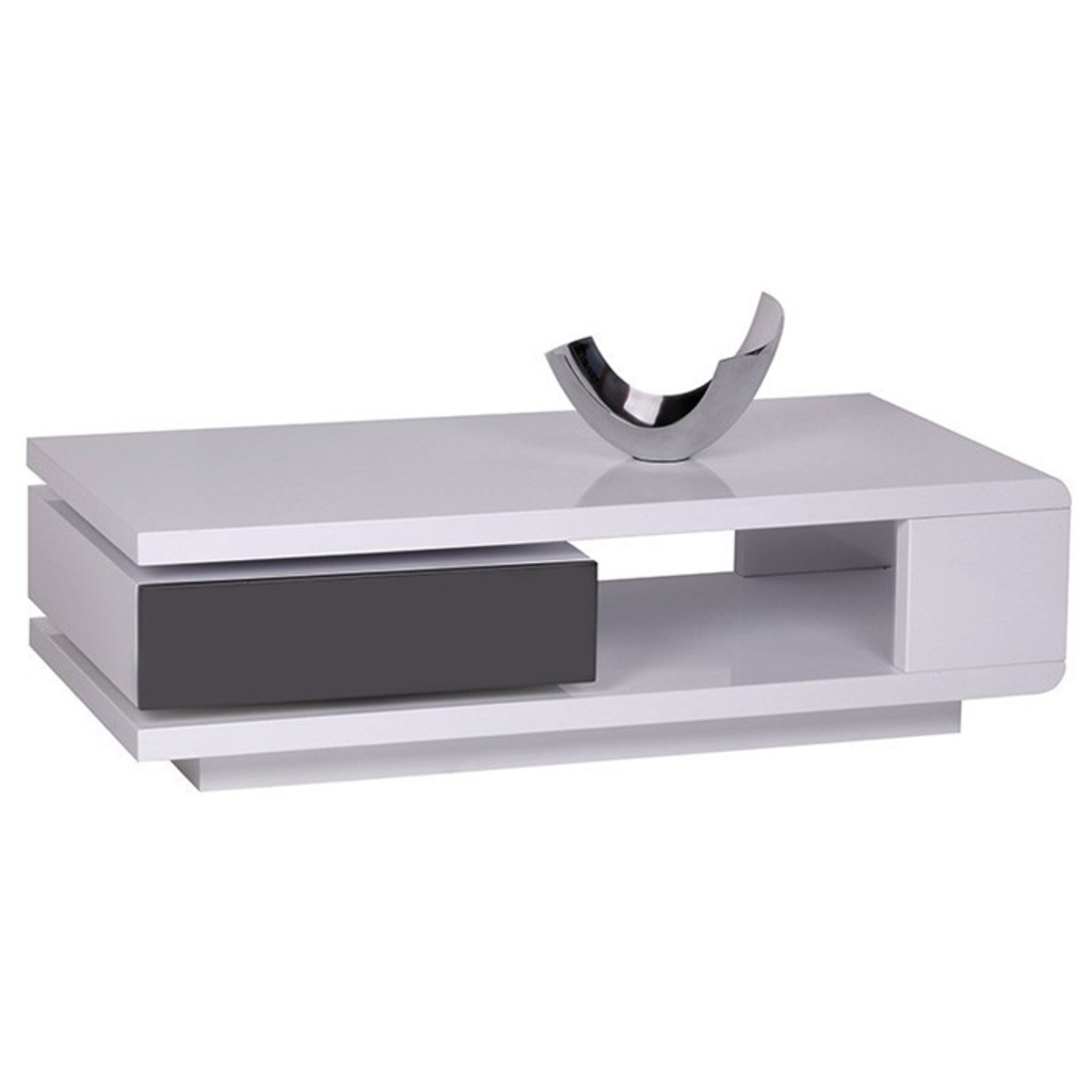 Meubeltop salontafel lida hoogglans wit van aspect design for Aspect design