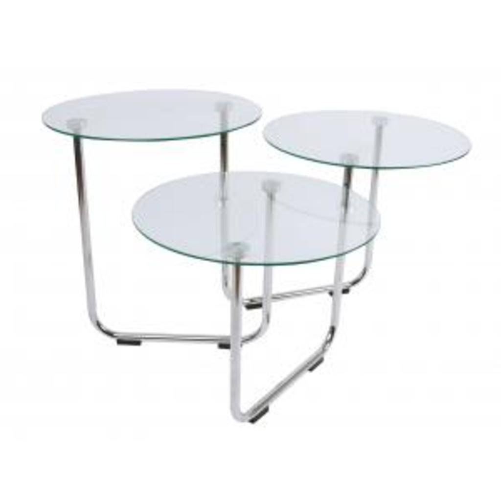 Meubeltop salontafel super swivel transparant glas leitmotiv van leitmotiv tafels bijzettafels - Kantoor transparant glas ...