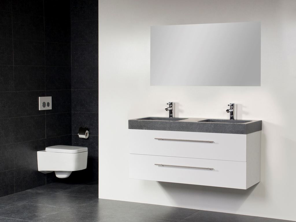 meubeltop saniclass exclusive line grey stone 120