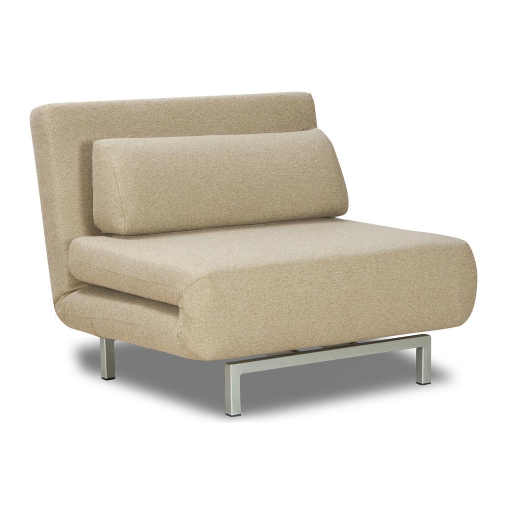 Meubeltop slaapstoel copperfield beige groen studio for Slaap stoel