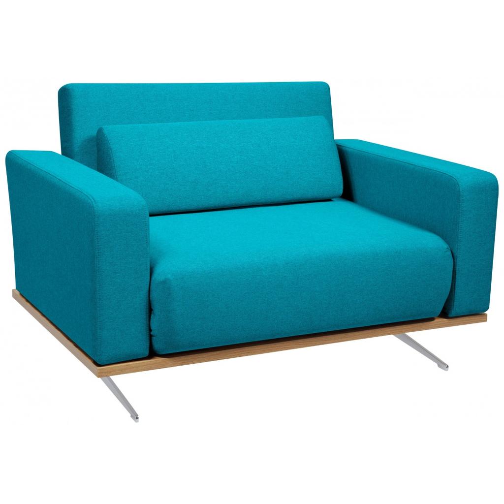 Meubeltop slaapstoel copperfield plus turquoise walnoot for Slaap stoel