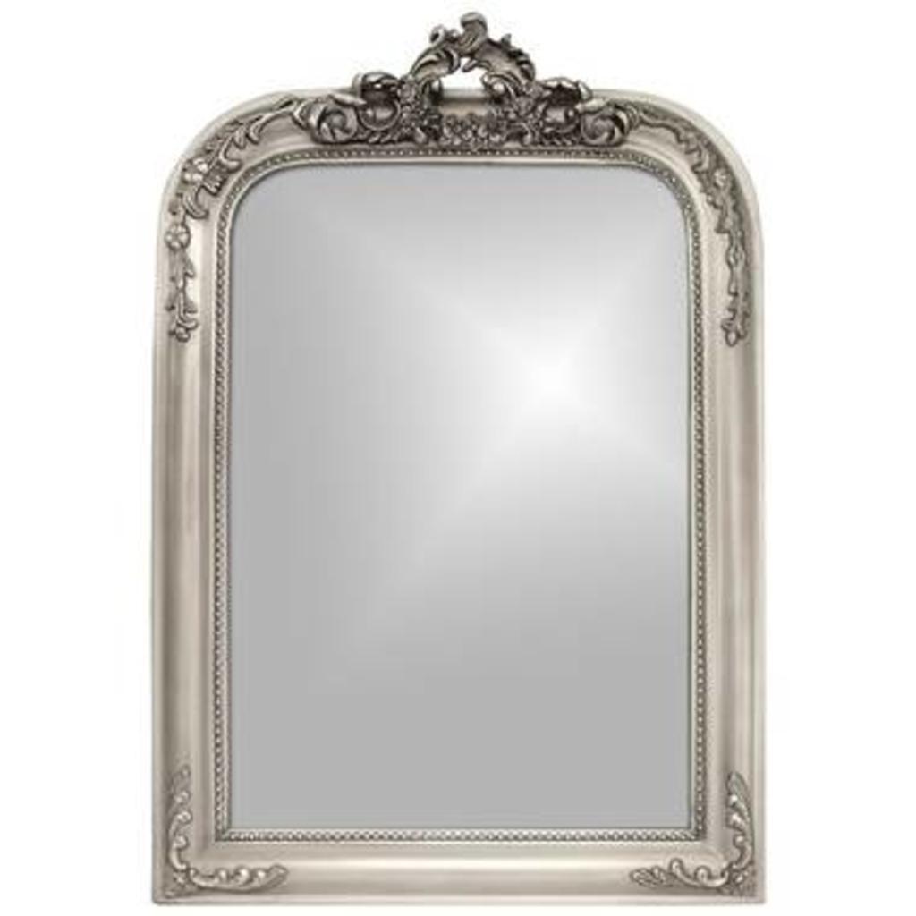 Meubeltop spiegel barok zilver van leen bakker woon for Barok spiegel
