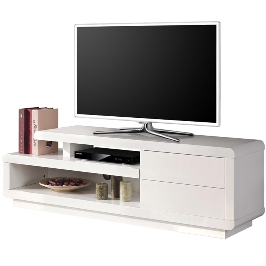 Meubeltop tv meubel ava hoogglans wit van aspect design for Aspect design