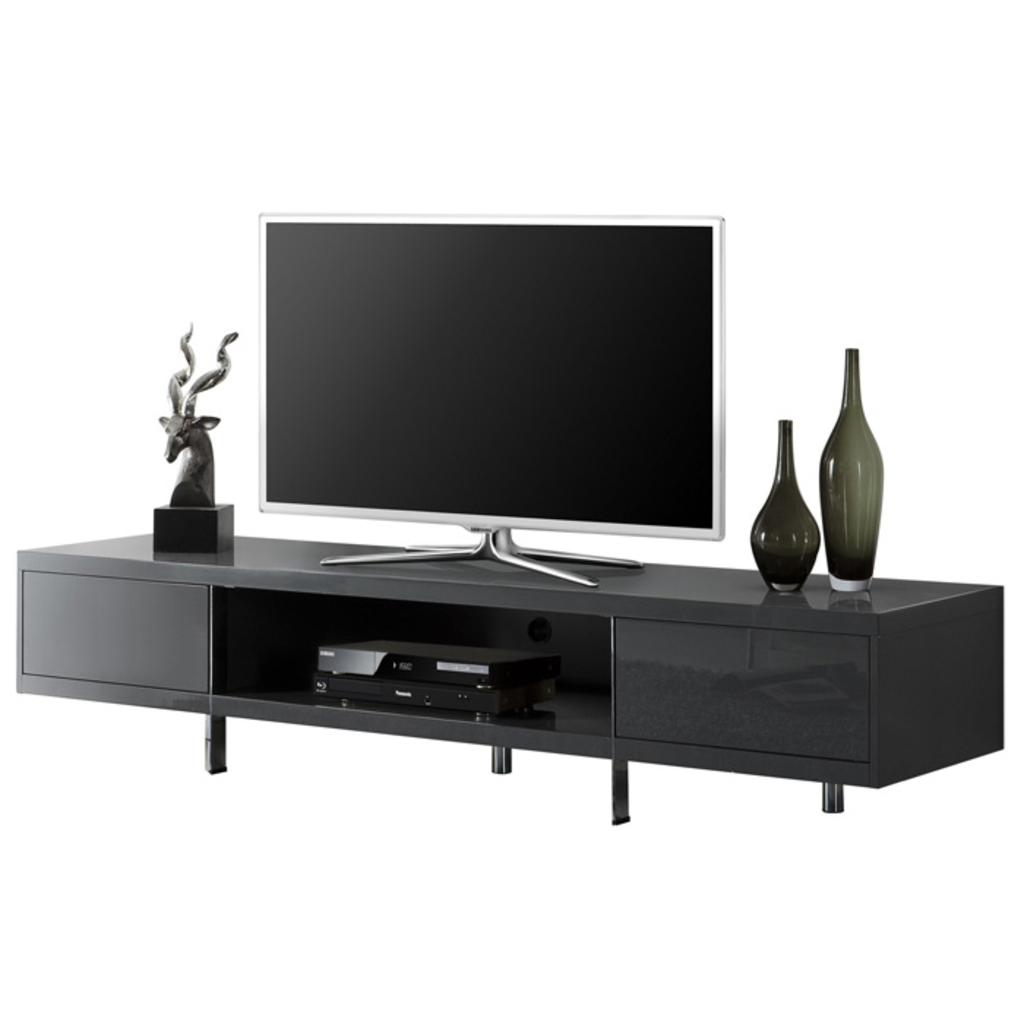 Meubeltop tv meubel ethan hoogglans grijs van aspect for Aspect design