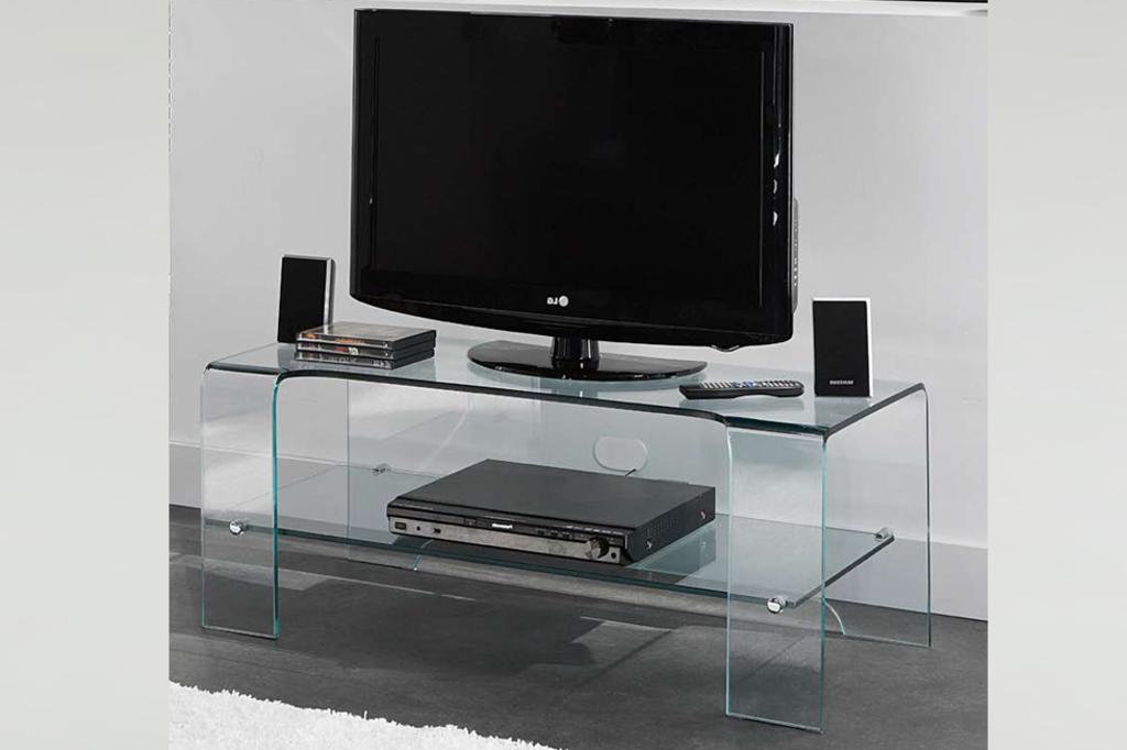Meubeltop tv meubel grazia helder glas van meubelsplaza for Huiskamer meubels