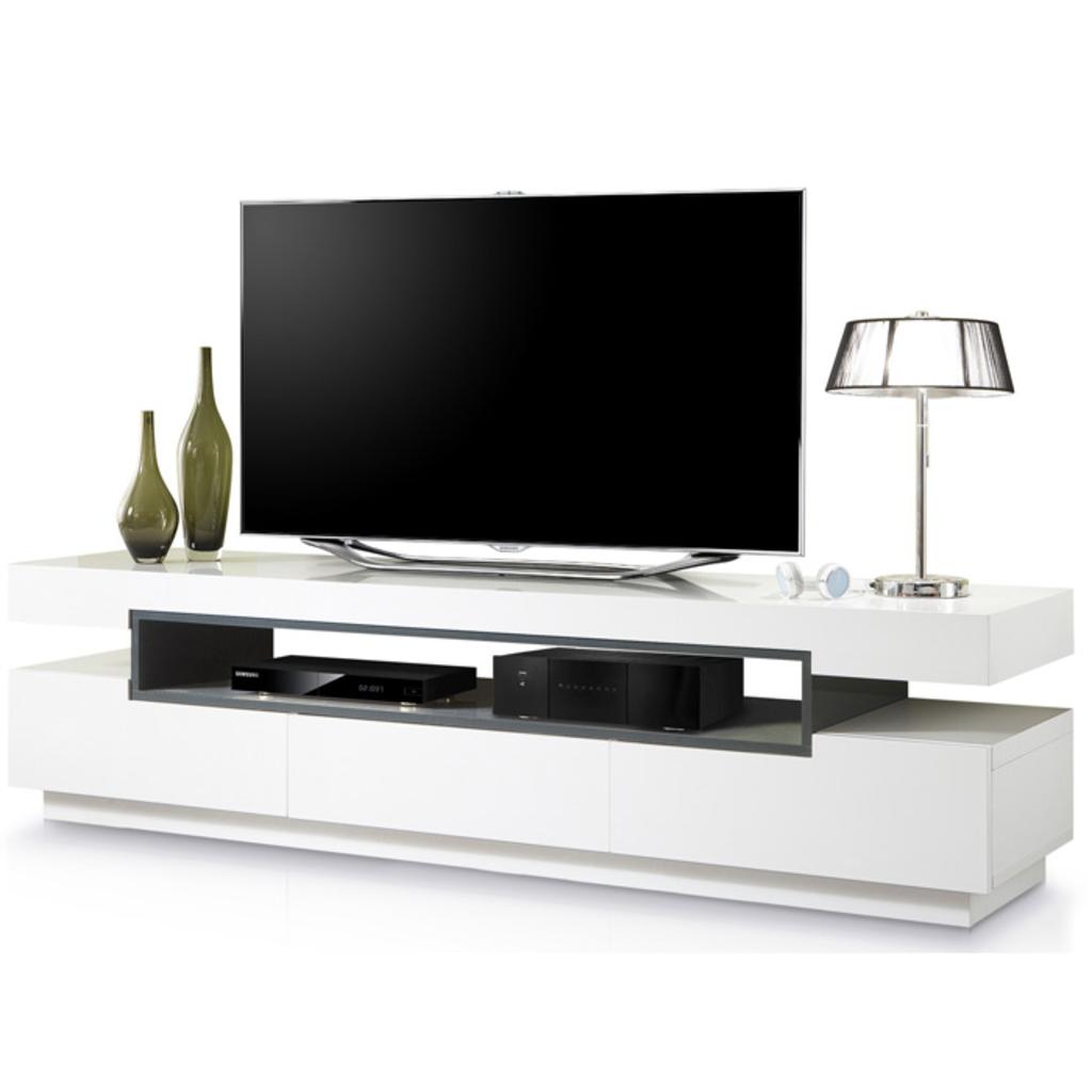 Meubeltop tv meubel landon hoogglans wit van aspect for Aspect design