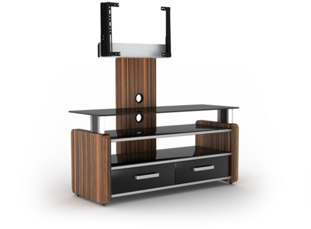 Meubeltop tv meubel lara 2 fx hoogglans ebony van elmob for Huiskamer meubels