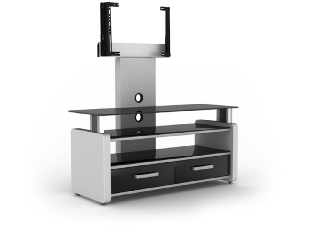 Meubeltop tv meubel lara 2 fx hoogglans wit van elmob tv for Huiskamer meubels