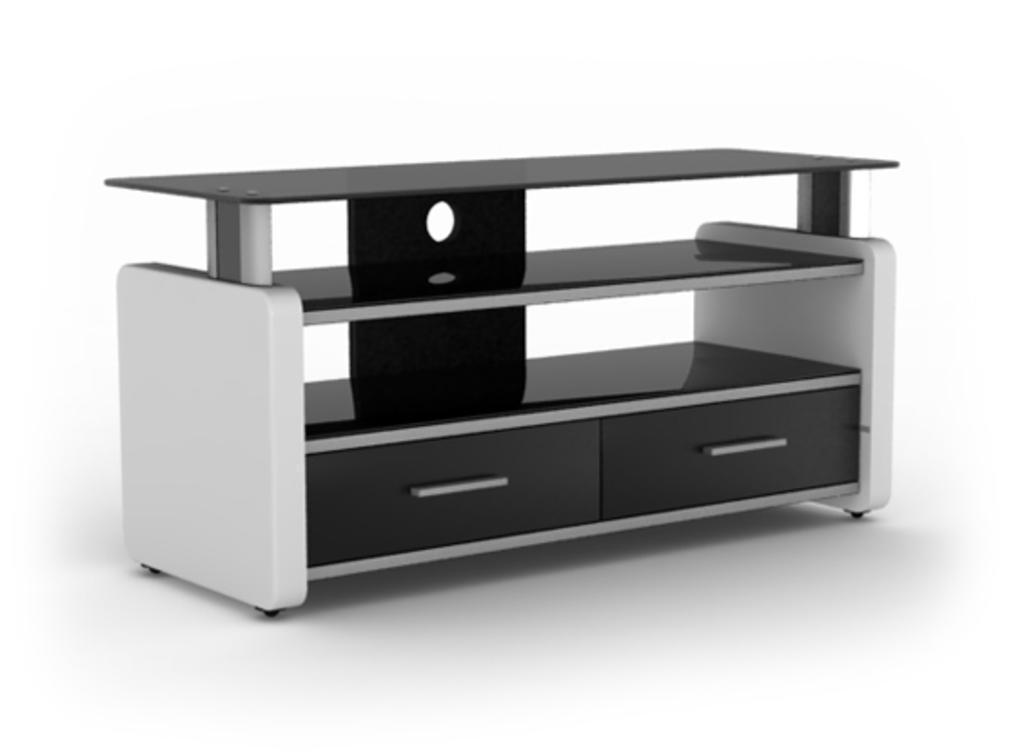 Meubeltop tv meubel lara 2 hoogglans wit van elmob tv for Huiskamer meubels