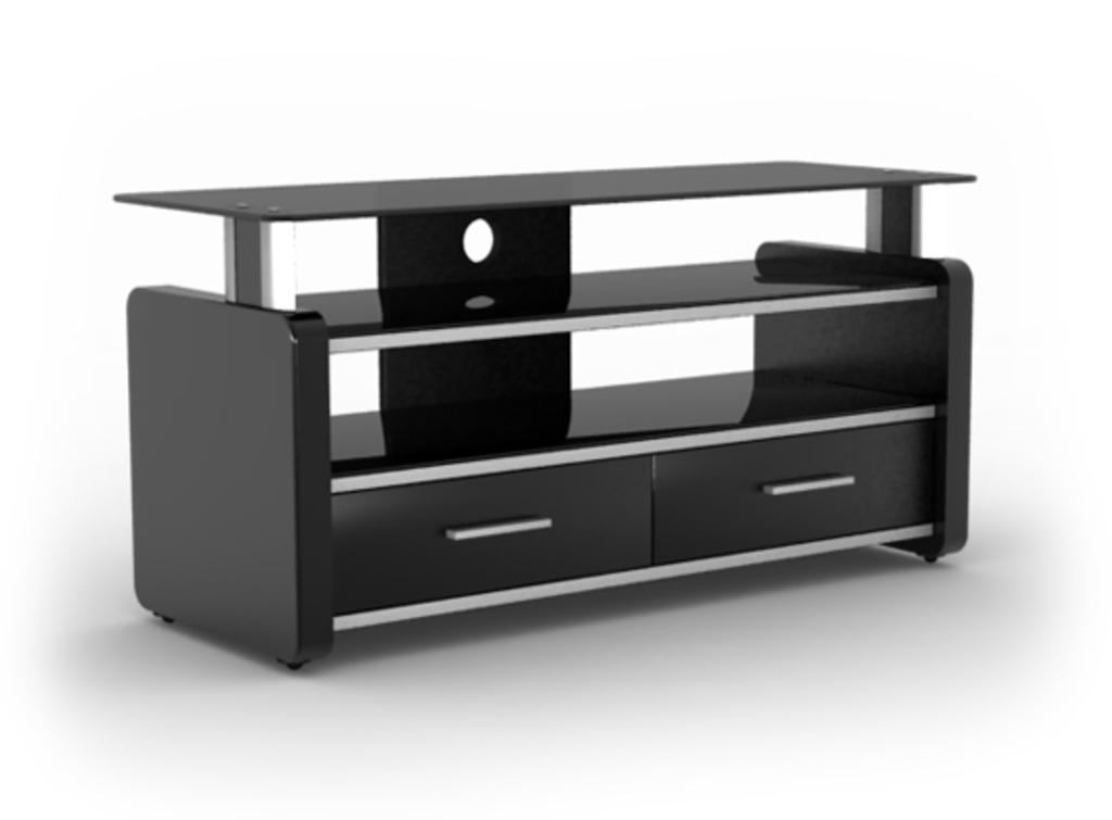 Meubeltop tv meubel lara 2 hoogglans zwart van elmob tv for Huiskamer meubels