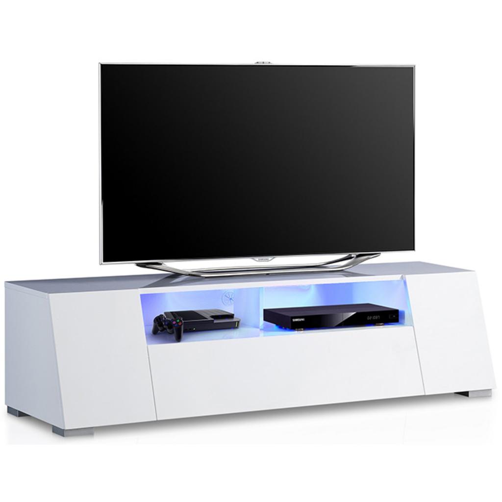 Meubeltop tv meubel lucy hoogglans wit led van aspect for Aspect design